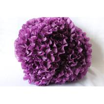 Рюші - шовк, 5см*50м  Фіолетовий