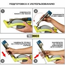 Маска для сноркелінгу TheNice F2 EasyBreath-IIIдля дайвінгу з кріпленням для камери L/XL Жовтий