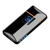 Зажигалка SUNROZ S1802 портативная электронная аккумуляторная USB зажигалка Черный