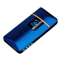 Зажигалка SUNROZ S1802 портативная электронная аккумуляторная USB зажигалка Синий