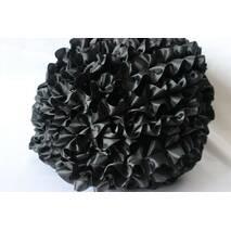 Рюші - шовк, 5см*50м  Чорний