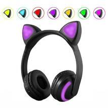 Наушники SUNROZ ZW-19 Наушники с кошачьими ушками LED подсветка 7 цветов Черный