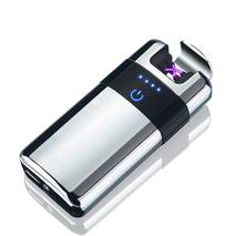 Запальничка SUNROZ MLT155 портативна електронна акумуляторна USB запальничка Срібний