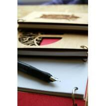 """Деревянный блокнот """"Мудрый Олень"""" ручной работы формат А5 (А6 под заказ)"""