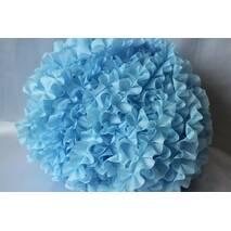 Рюші - шовк, 5см*50м  Блакитний