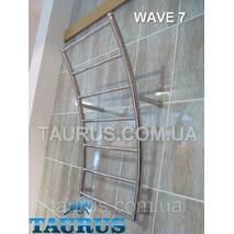 Широкий полотенцесушитель Wave 7/ 500 мм у формі морської хвилі для ванної кімнати. н/же сталь. 1/2. Україна