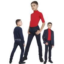 """Брюки  для мальчика узкие школьные М-1103  рост 128 134 140 146 152 и 158 тм """"Попелюшка"""" 134"""