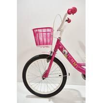 """Велосипед 18""""- Remmy VIOLETTA рама11"""" розово-белый (глянец)"""