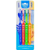 Зубна щітка Twice Adult (4шт) Ekulf