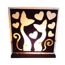Соляний світильник Закохані коти 2кг Saltlamp