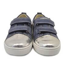 Кеды на липучках 611 (голубые с серебром и звездой) ORTHOBE