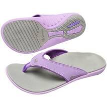 SPENCO YUMI - Женские вьетнамки -Dove Grey/Purple