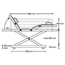 Кровать медицинская 4-х секционная с электроприводом Belluno bibs Bock