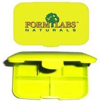 Пенал для пігулок Forм Labs Naturals, жовтий