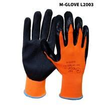 Перчатки M-GLOVE L2003 9 и 10 размер оранжево-черные
