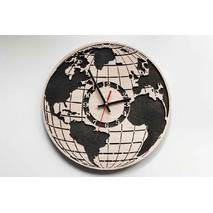 Дизайнерський настінний дерев'яний годинник для Глобус