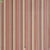 Ткань для штор, подушек, мягкой мебели в полоску бордово-розового цвета с тефлоном