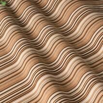 Ткань декоративная в полоску бежево-коричневого цвета с тефлоном для штор и подушек