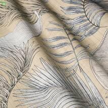 Ткань для штор, подушек хлопок с тропическими растениями 83429v1