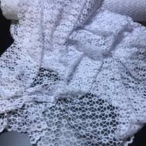 Тюль гипюр крупная сетка цвет белый в гостиную, спальню