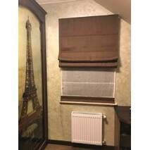 Римская штора льняная под индивидуальные размеры в спальную, детскую, гостиную, зал, офис