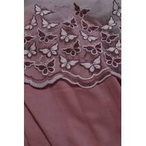 Красивая тюль набитые двухцветные бордовые бабочки на фатине в спальную, детскую