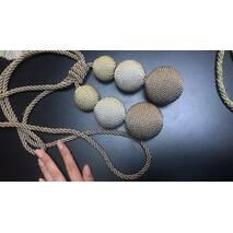 Подхват для штор плетённые шары