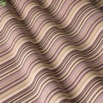 Ткань для штор, подушек в спальную полоска сиренево-фиолетового цвета с тефлоном