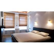 Римская штора со льна в столовую, спальную, гостиную