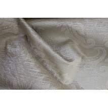 Бархат для штор с классической короной цвет кофейный, слоновая кость