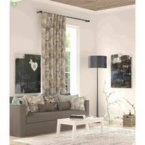 Ткань для штор в спальную, гостиную хлопковая с тропическими растениями