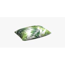 Ткань натуральный хлопок с узором зеленые листья тропических растений для штор