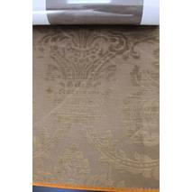 Бархат для штор с классической короной коричневого цвета в гостиную, зал