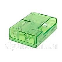 Корпус для Raspberry Pi B  / Raspberry Pi 2 B / 3b зеленый прозрачный