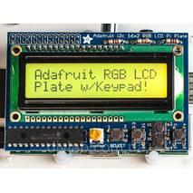 RGB LCD экран 16x2 с клавиатурой для Raspberry Pi от Adafruit