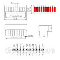 10 сегментный прогресс бар (красный)