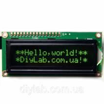 LCD 1602 HD44780 зеленые символы, черный фон Arduino, AVR, STM32, Raspberry Pi