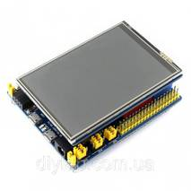 """Дисплей TFT 3.5"""" 480x320 ILI9486 з резистивним сенсором XPT2046 для Arduino UNO/Leonardo від WaveShare"""