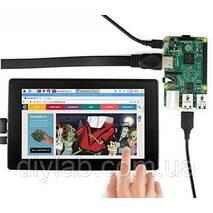 """HDMI LCD IPS 7"""", 1024×600, Емкостный сенсор, для Raspberry Pi от Waveshare (H)"""