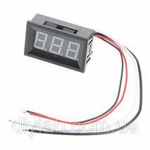 Цифровой вольтметр 0 -100В (красные символы)