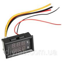 Цифровий DC вольтметр 0 -300В + амперметр 0 -10А