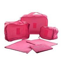 Набір органайзерів для подорожей 6-в- 1 Рожевий