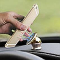 Магнітний утримувач для телефону в машину Mobile Bracket - Золотий