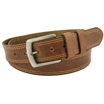 Чоловічий ремінь Romario centura 4 см для джинсів коричневий 110-135 см   (RC1591)
