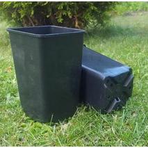 Горщик квадратний високий 0.8 л (9*9*14 см) Donplast