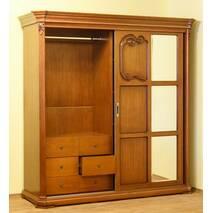 Деревянный шкаф купе Камелия ЮрВит в спальню