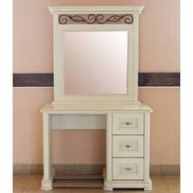 Туалетний столик Вікторія з масиву дуба з дзеркалом