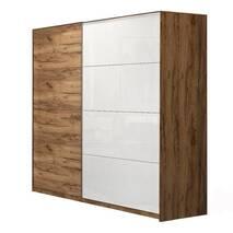 Шкаф купе Асти фасады-белый глянец