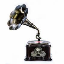 Грамофон Daklin Париж з тумбою шоколадний горіх (RP - 013c)