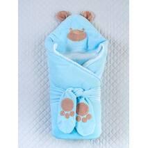 Зимний конверт-одеяло Lari Little Bear 85х85см голубой